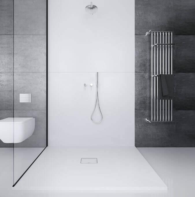 Bac de douche extraplat texture pierre de Profiltek