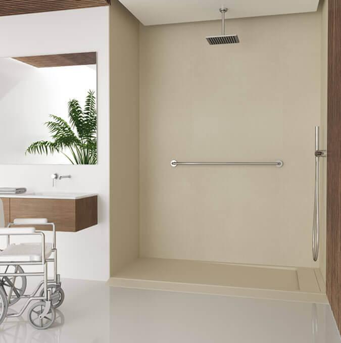Receveur de douche adapté pour des handicapés Profiltek modèle Matis