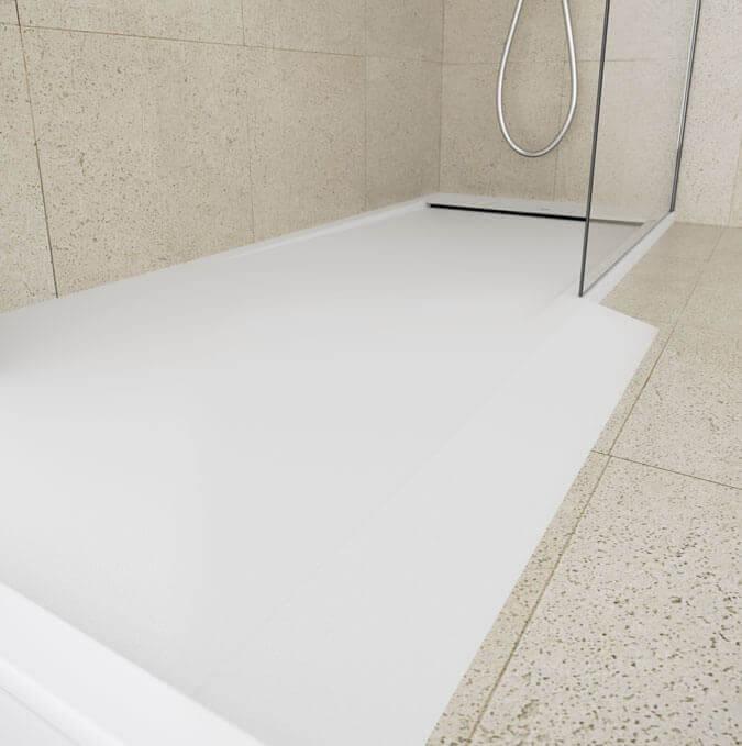 Bac de douche Matis avec rampe d'accès de Profiltek