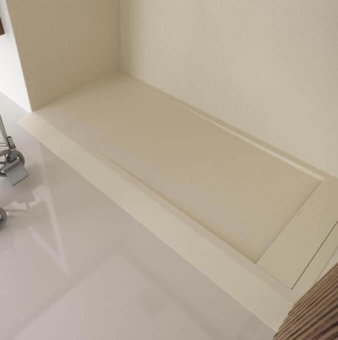 Receveur de douche extraplat avec rampe d'accès de Profiltek modèle Matis
