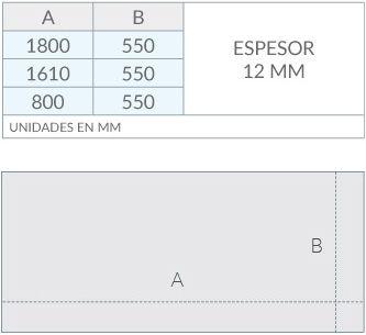 Paneles laterales dimensiones
