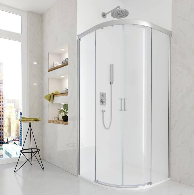 Bac de douche Rodik avec parois de Profiltek
