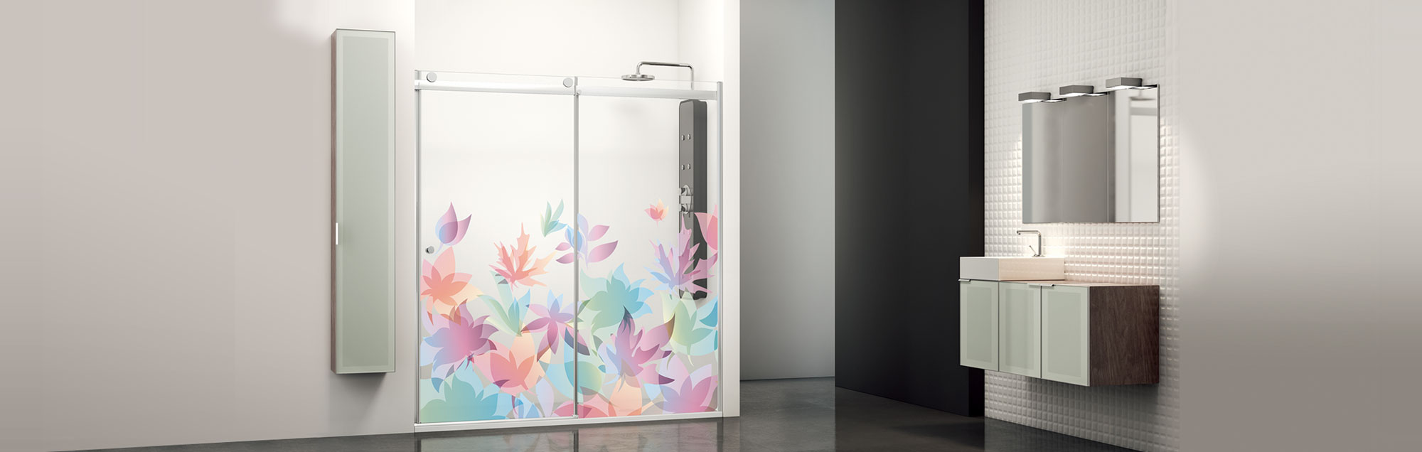 Select Moon Collection sliding made to measure bathroom enclosures