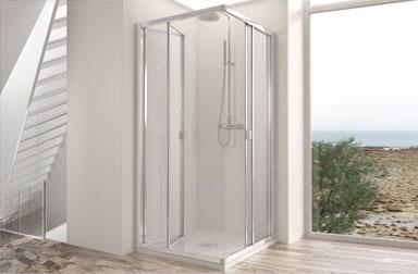 Serie Duna de mamparas plegables de baño PROFILTEK