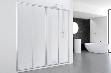 PROFILTEK Ecodux Collection sliding bathroom enclosures