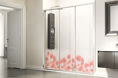 Serie Ecodux de mamparas correderas de baño PROFILTEK