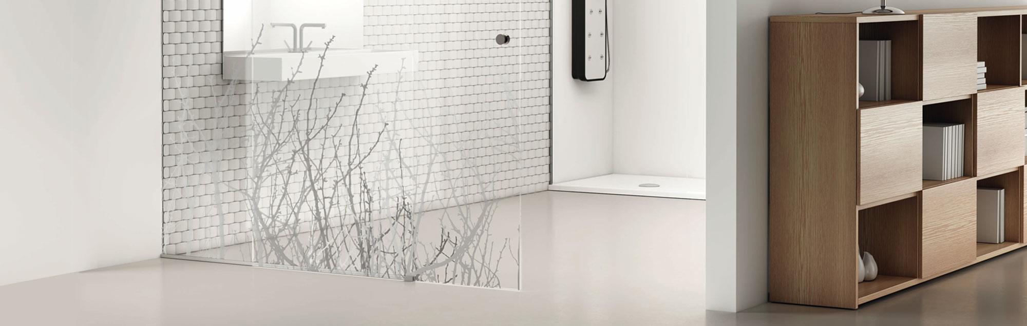 Série Kosmos de portas corrediças de vidro por medida da PROFILTEK