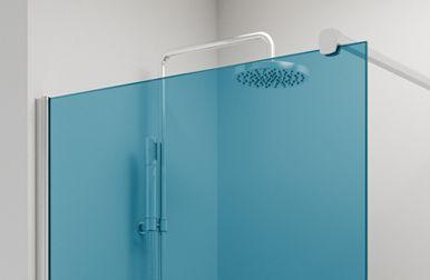 Vidrio AZUL mampara baño PROFILTEK