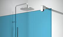 Blue glass for Profiltek panels for shower