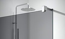 Smokey Grey glass for Profiltek bathroom wall panels