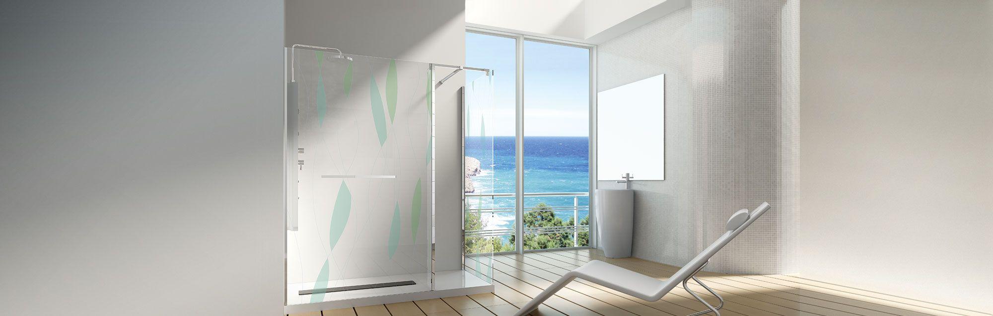 Serie Alhambra de mamparas walk-in de baño a medida
