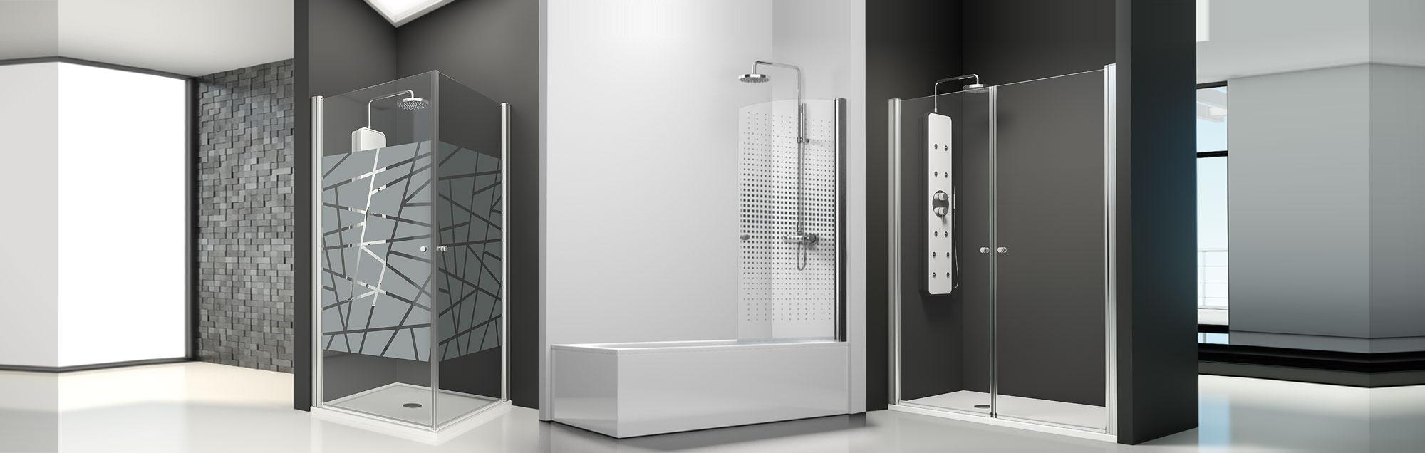 Serie Arcoíris de mamparas abatibles de baño a medida