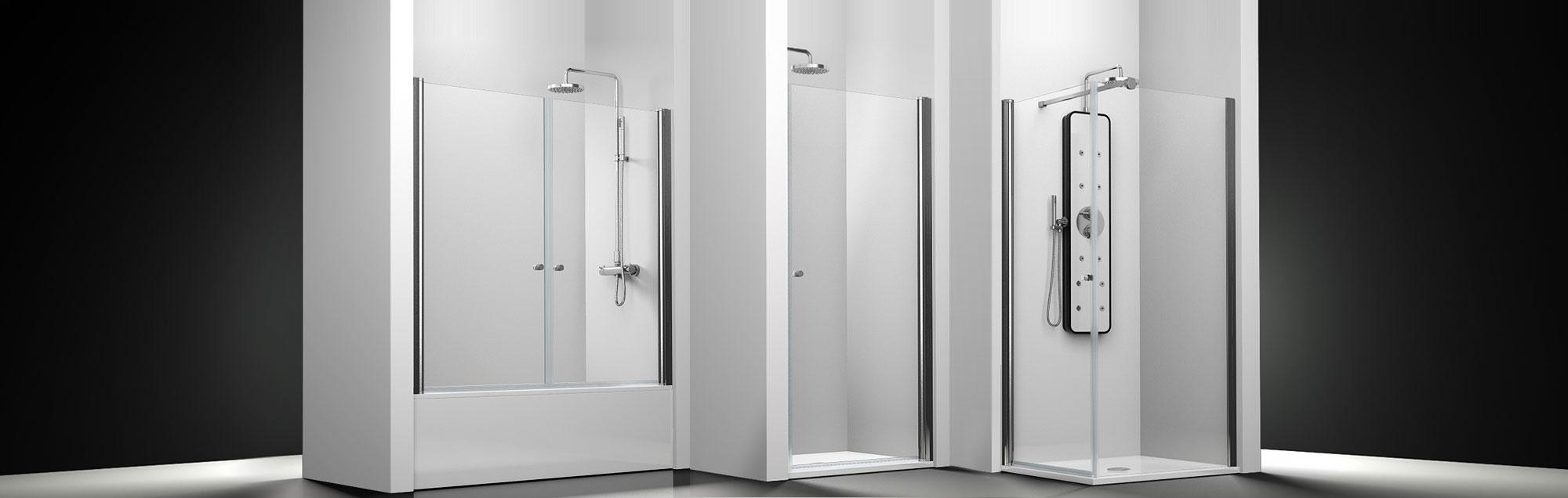Serie Arcoíris de mamparas abatibles de ducha a medida