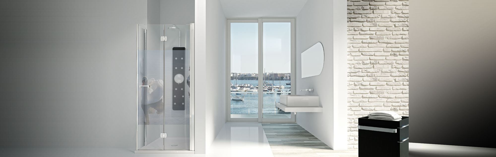 Serie Arcoiris Plus di box doccia pieghevoli su misura