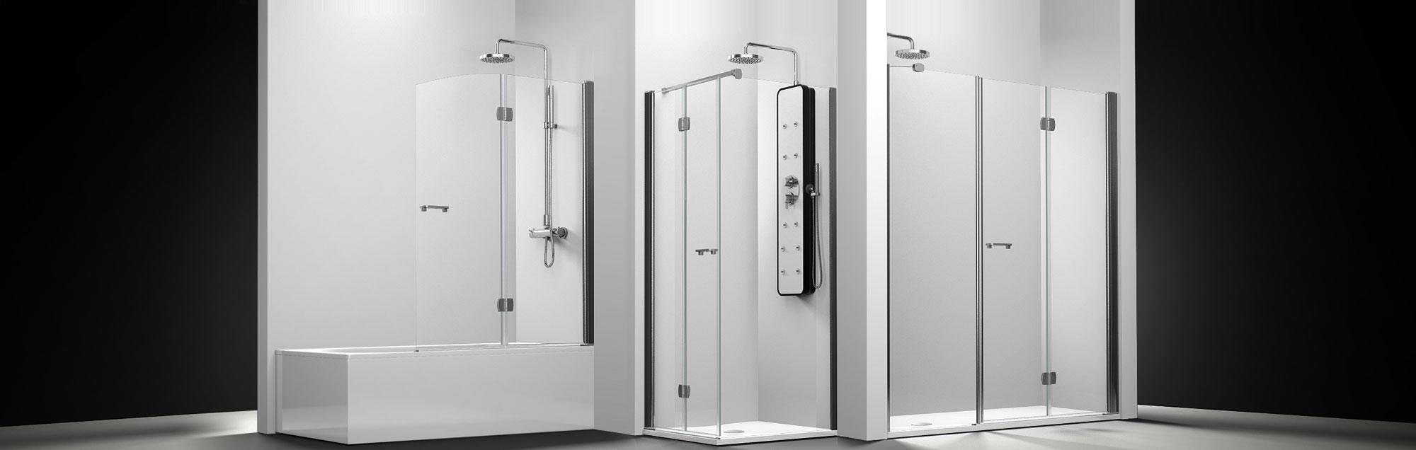 Serie Arcoíris Plus de mamparas plegables de ducha a medida