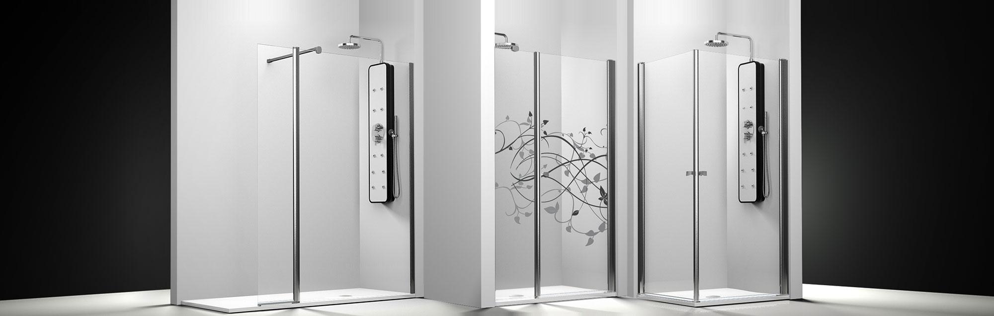 Serie Arcoíris Plus de mamparas abatibles de ducha a medida