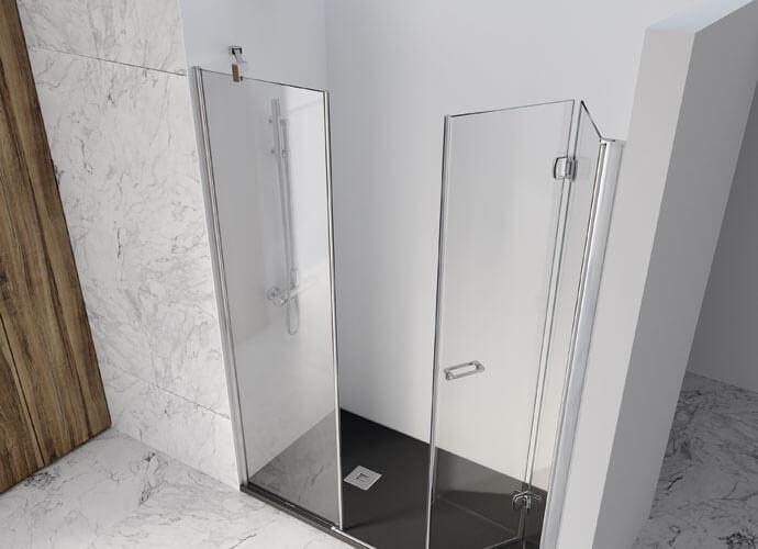 Divisória de banho Arcoiris perfil cromo Profiltek AC218