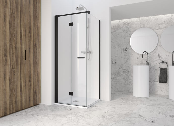 Divisória de banho perfil preto Profiltek AC219