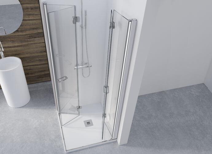 Divisória de banho perfil cromo Profiltek AC218