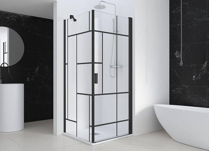 Swinging shower enclousure with moderne design Profiltek AC208