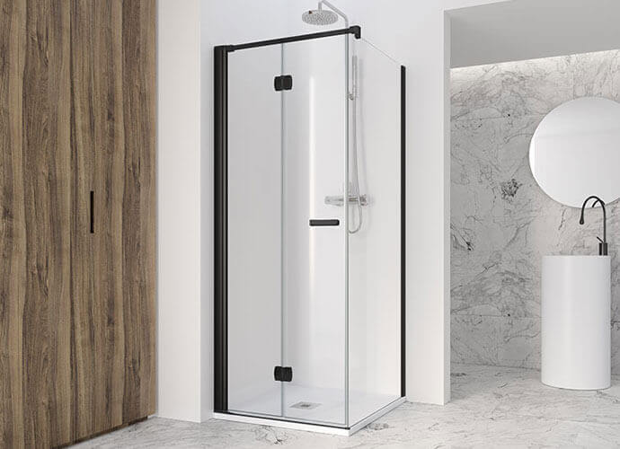 Folding shower enclousure made to measure profiltek