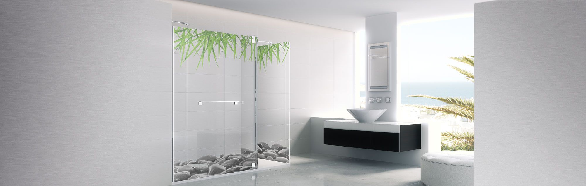 Série Belus parois de bain walk-in sur mesure