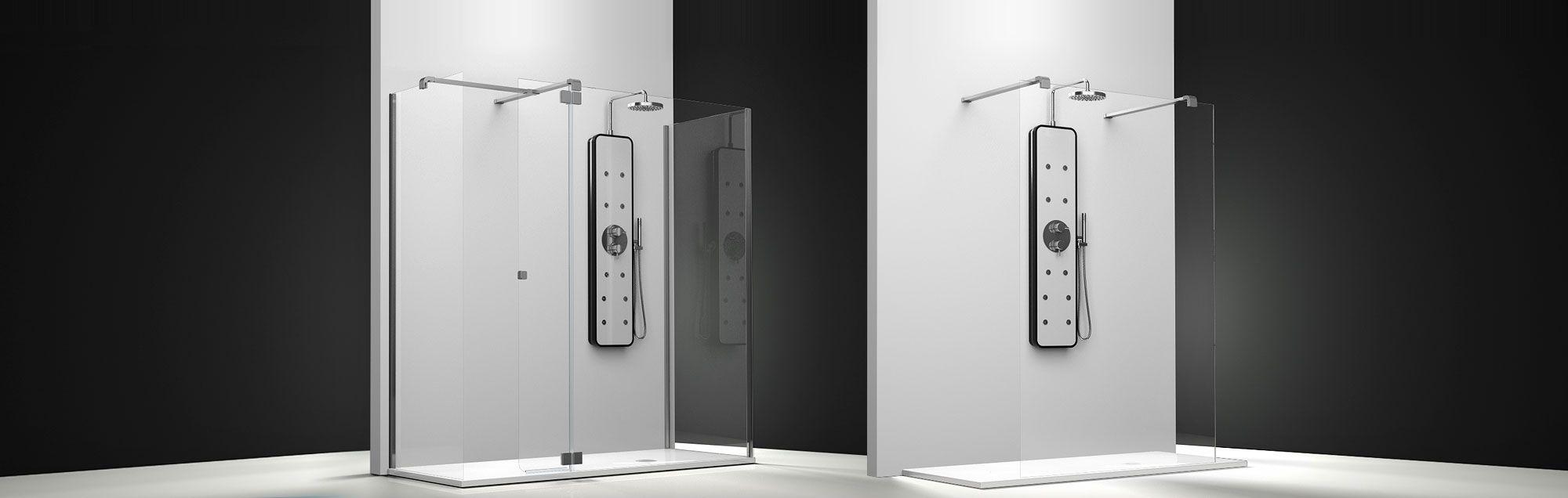 Serie Belus de mamparas walk-in de ducha a medida
