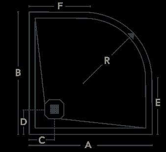 Bondes base de duche Profiltek