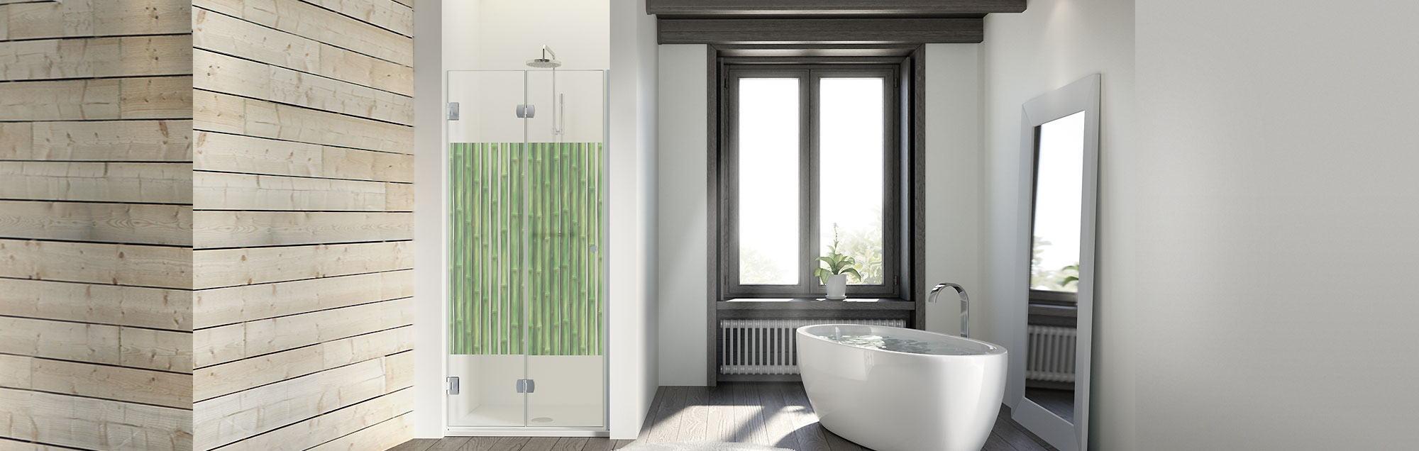 Chloe Collection swinging made to measure bathroom enclosures