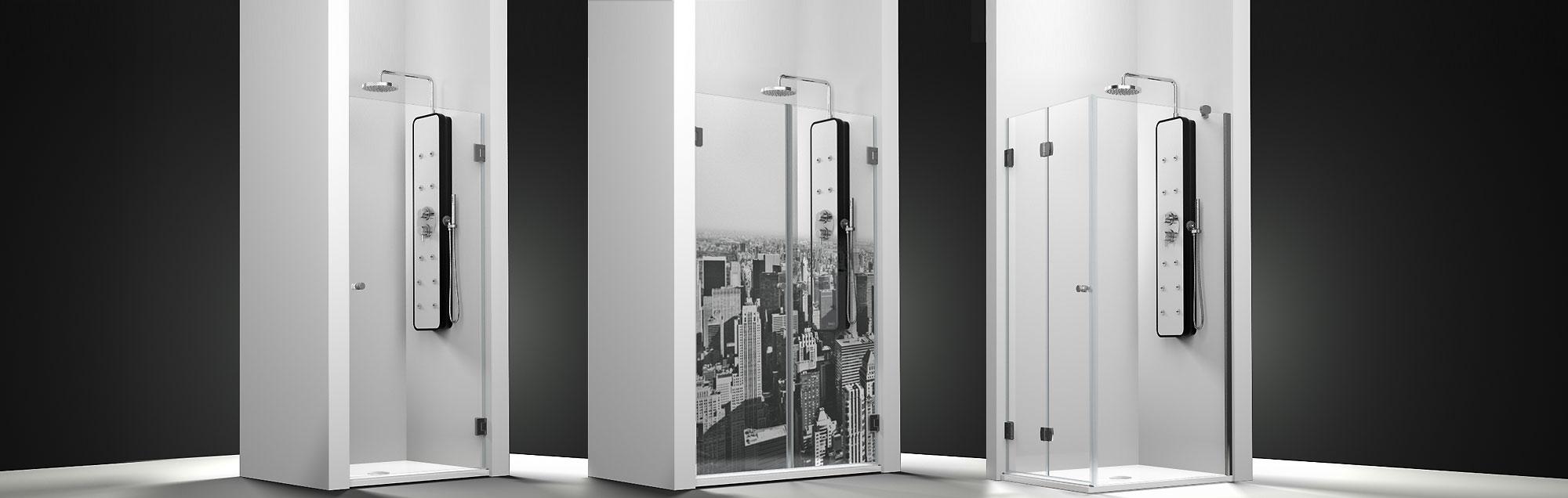 Serie CHLOE. Box doccia battenti per vasca da bagno su misura ...