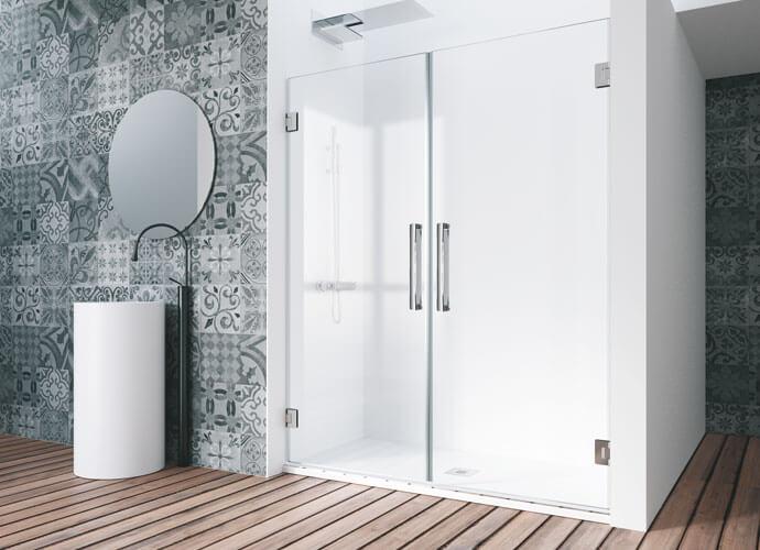 Divisoria de duche abatíveis Profiltek ch207