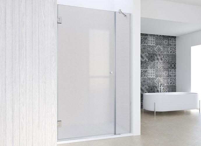 Parois de douche minimaliste battante sur mesure Profiltek ch205