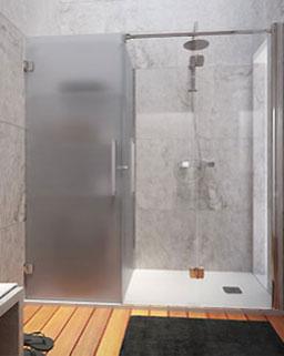 Divisória de duche dobrável