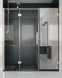 Divisória de duche abatível