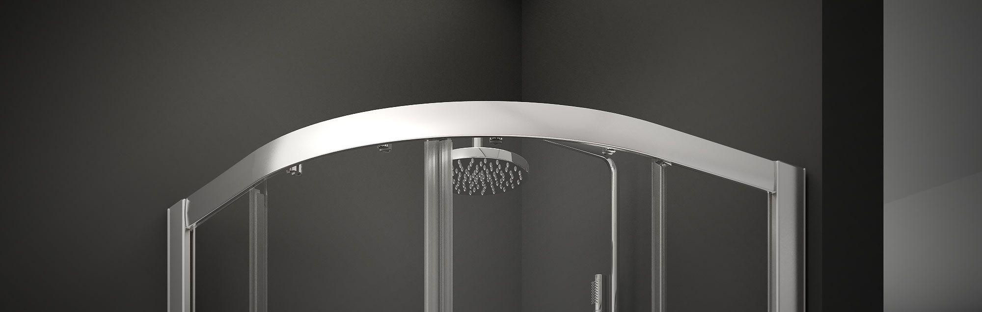 Serie Cristaldux di box doccia per vasca scorrevoli su misura
