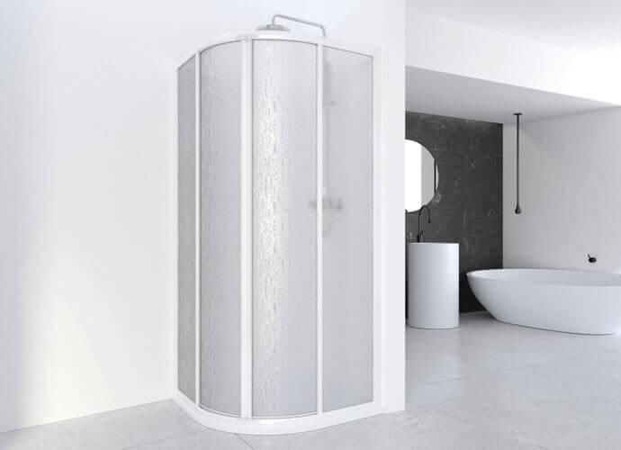 Mampara de ducha curva Profiltek serie Cumus