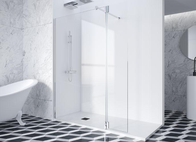 Mampara de ducha fija Profiltek serie Deflector