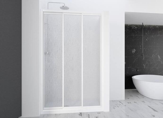 Divisória para duche com folhas corrediças Profiltek serie Demi