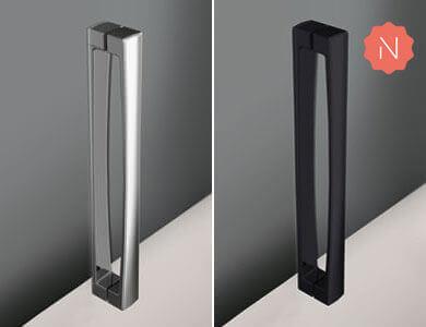 Handle Paris standard. Glossy Chrome/Black finish HIT Profiltek
