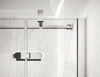 Detail of multi-position bar and top hinge GALLERY Profiltek