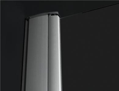 Detalhe do perfil da parede Modelo ARCOIRIS PLUS Profiltek
