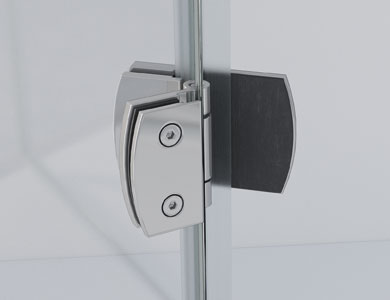 Magnetic hinges 180º positioning of the panels NEWGLASS Profiltek