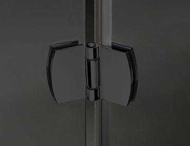 Dobradiça. Acabamento Preto Modelo NEWGLASS Abativel Profiltek