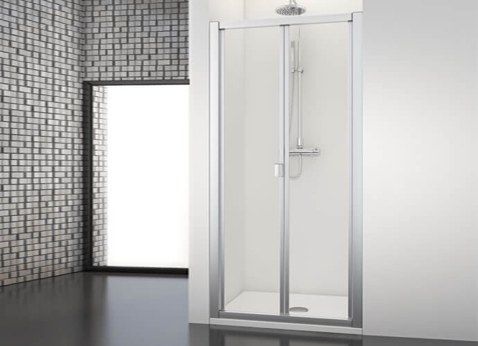 Mampara de ducha plegable Profiltek serie Dumas