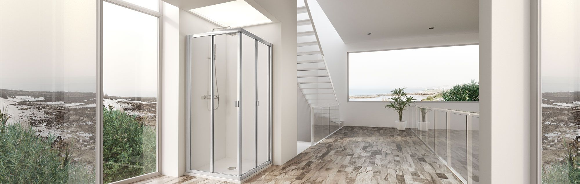 Duna Collection swinging bathroom enclosures