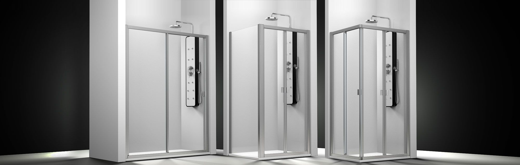 Serie Duna de mamparas plegables de ducha a medida