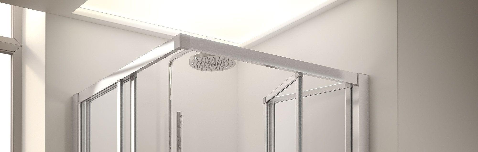 Serie Duna de mamparas plegables de bañera a medida