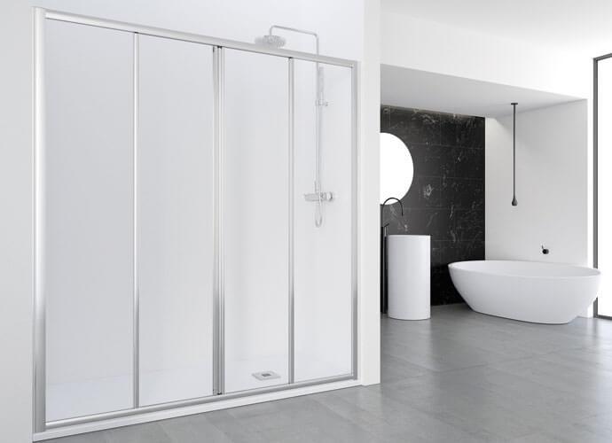 Divisória duche com Profiltek EC225