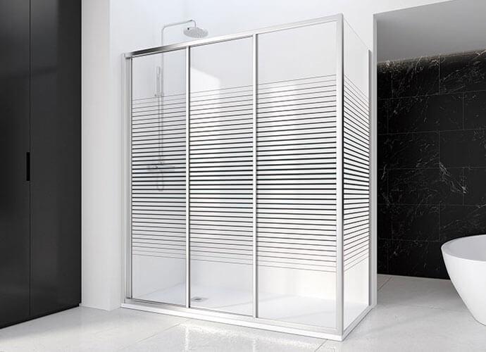 Mampara baño puerta corredera a medida Profiltek EC290