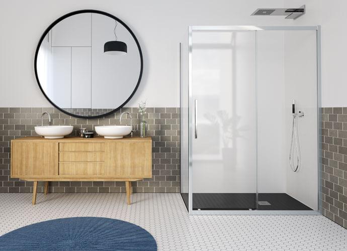 Divisória de duche corrediça Profiltek el216